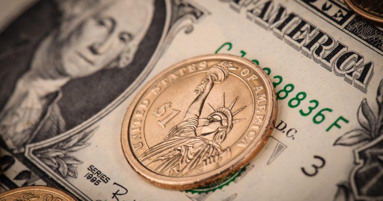 One dollar bill coin